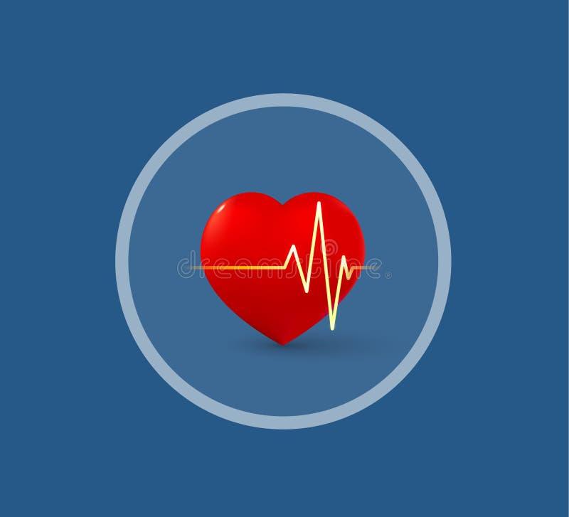 Медицинские сердце и ИМП ульс логотипа стоковое фото