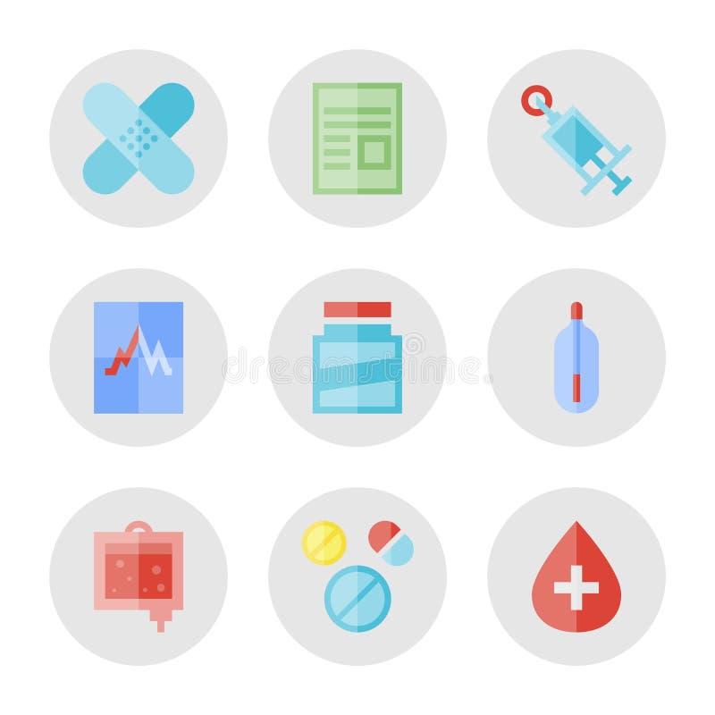 Медицинские установленные значки бесплатная иллюстрация