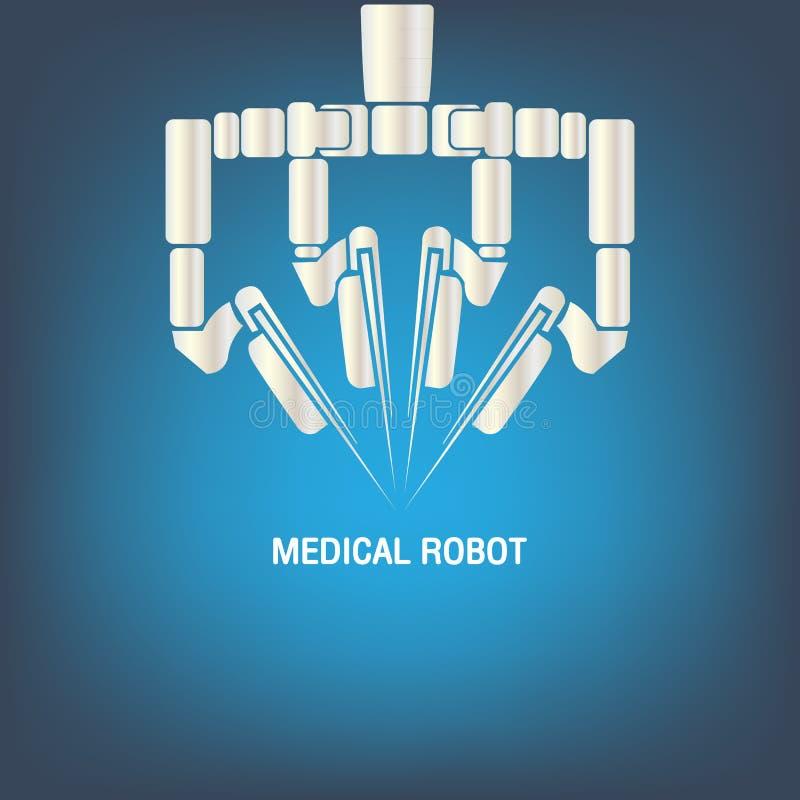 Медицинский вектор значка робота иллюстрация штока
