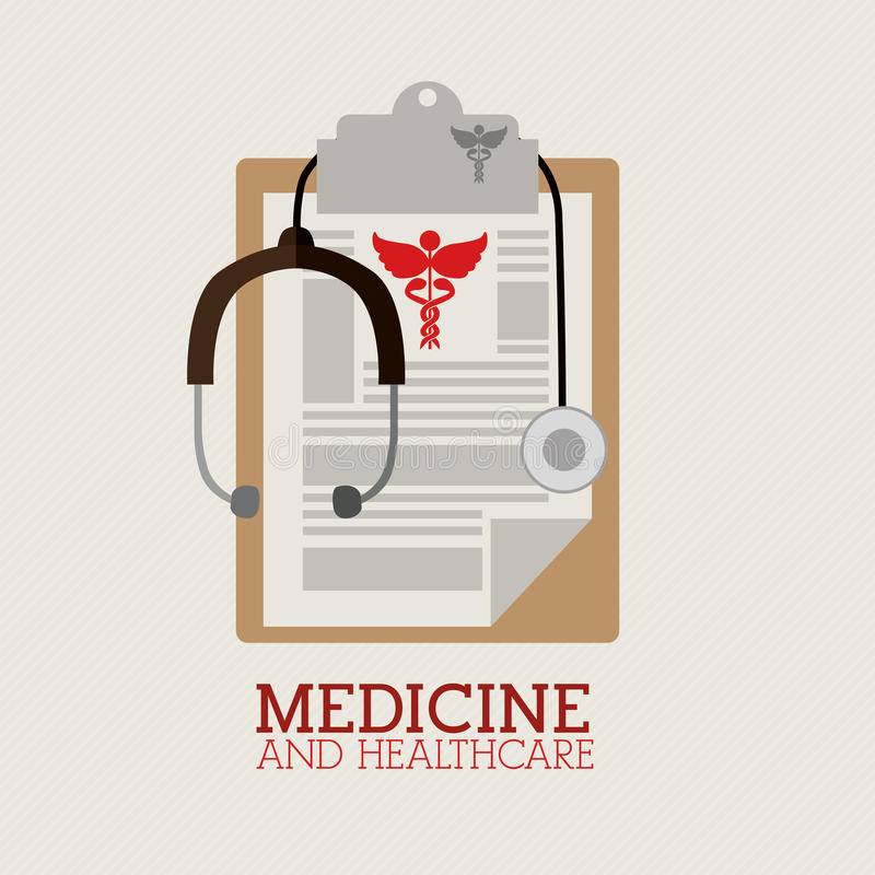 Медицинский дизайн иллюстрация штока