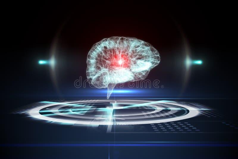 Медицинский интерфейс в черной и голубом иллюстрация штока