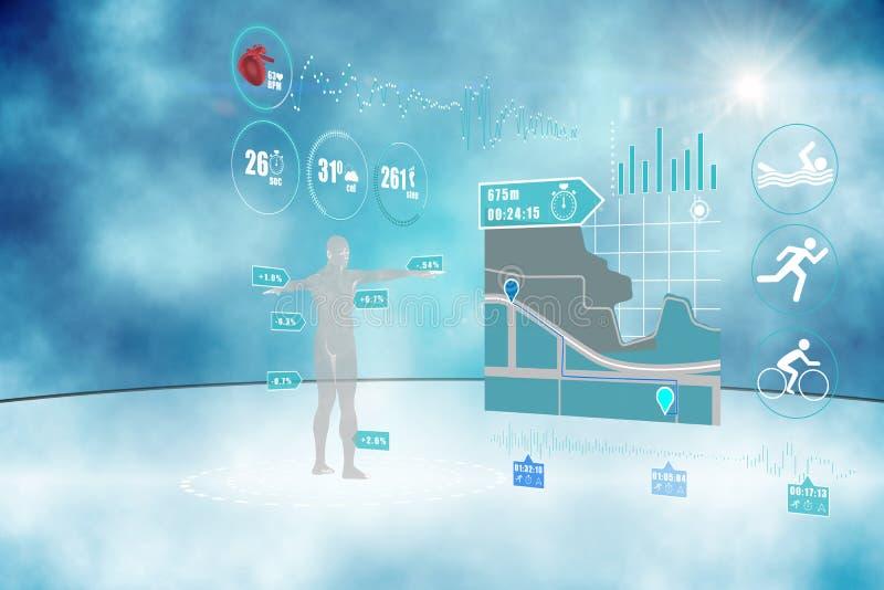Медицинский интерфейс иллюстрация штока