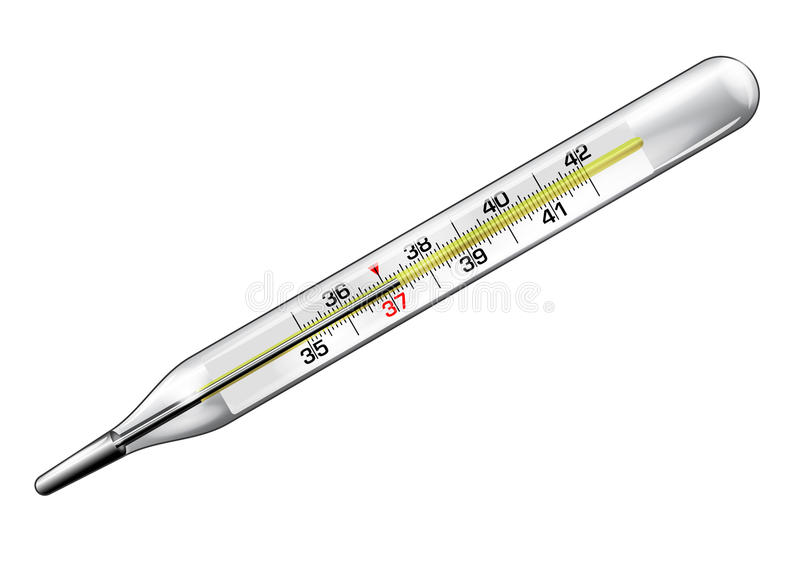 Медицинский конец-вверх термометра в векторе иллюстрация вектора