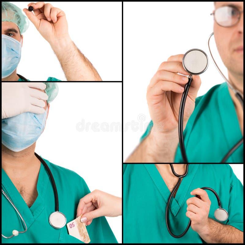 Медицинский коллаж концепций стоковые фотографии rf