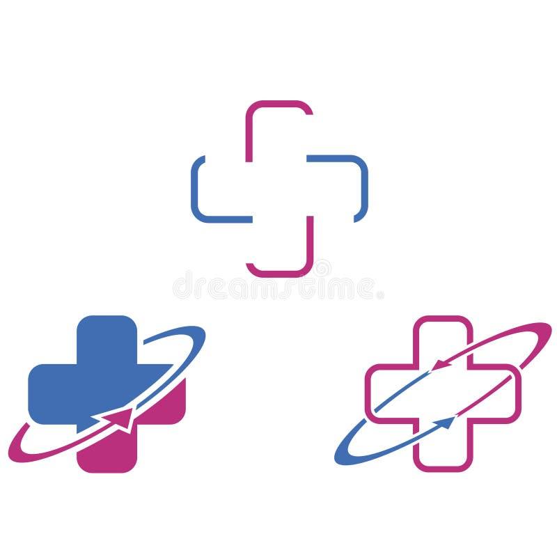 Медицинский перекрестный значок иллюстрация штока