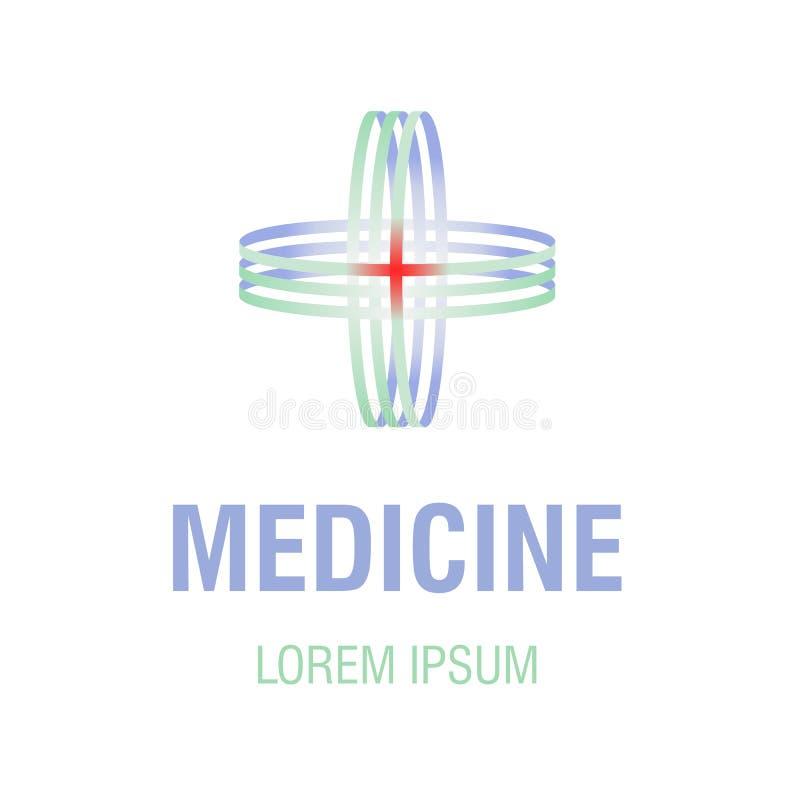 Медицинский перекрестный логотип стоковые фотографии rf