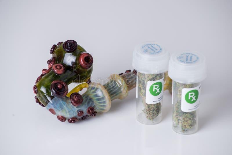 Медицинский рецепт марихуаны стоковые фотографии rf