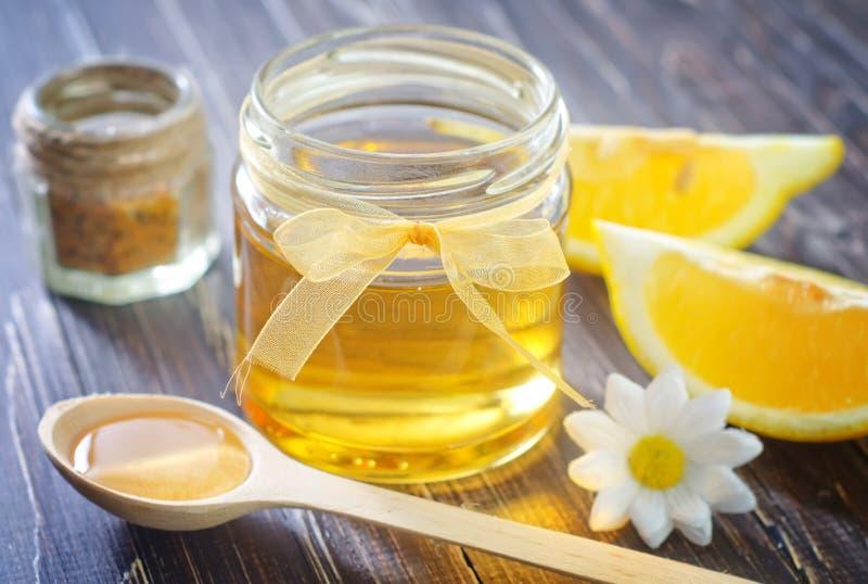 Мед и лимон стоковое изображение rf