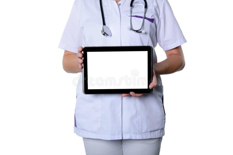 Медсестра онлайн стоковое фото rf