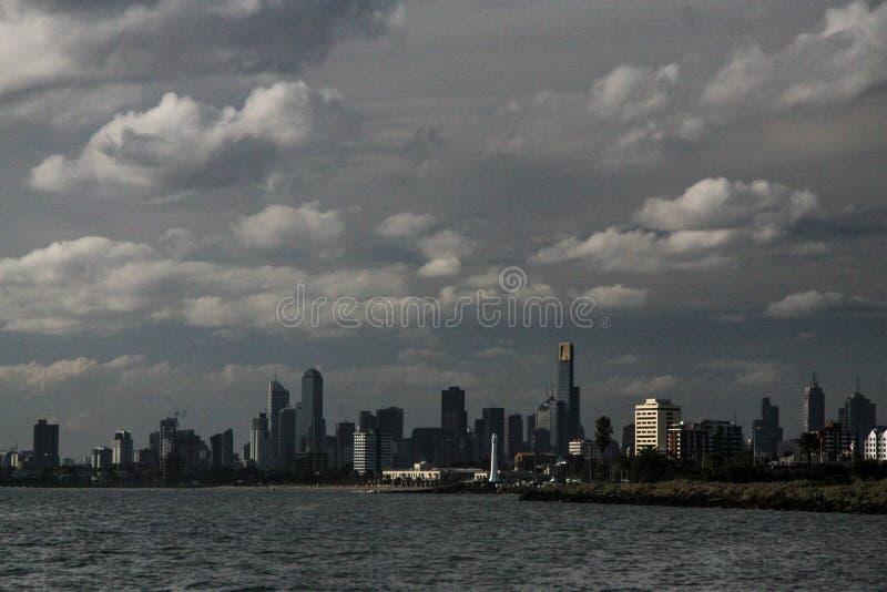 Мельбурн от моря стоковая фотография rf
