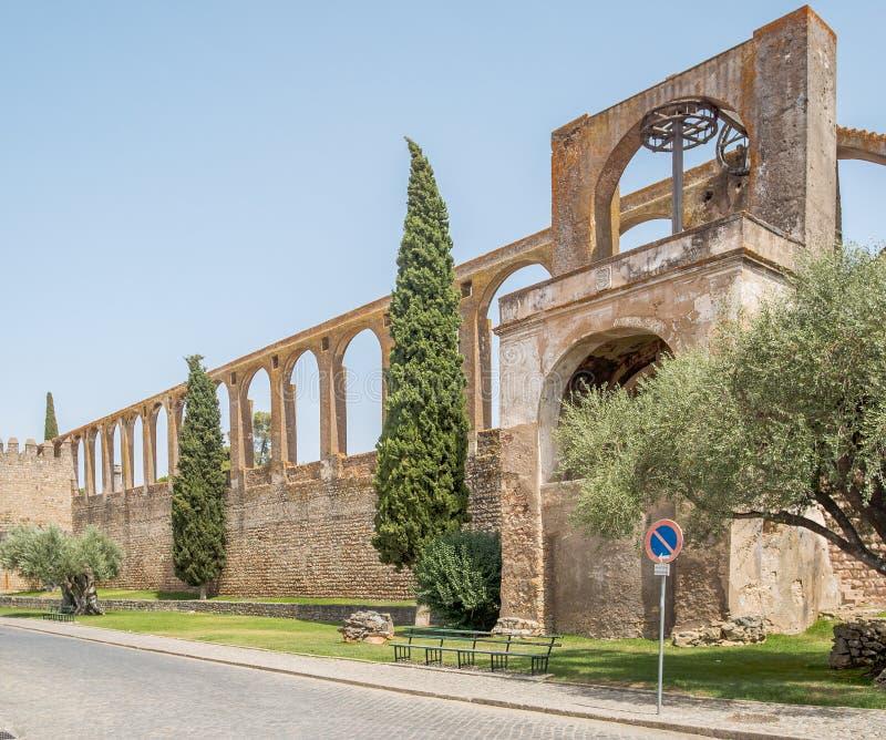 Мельница в замке Serpa, Португалии стоковые фотографии rf