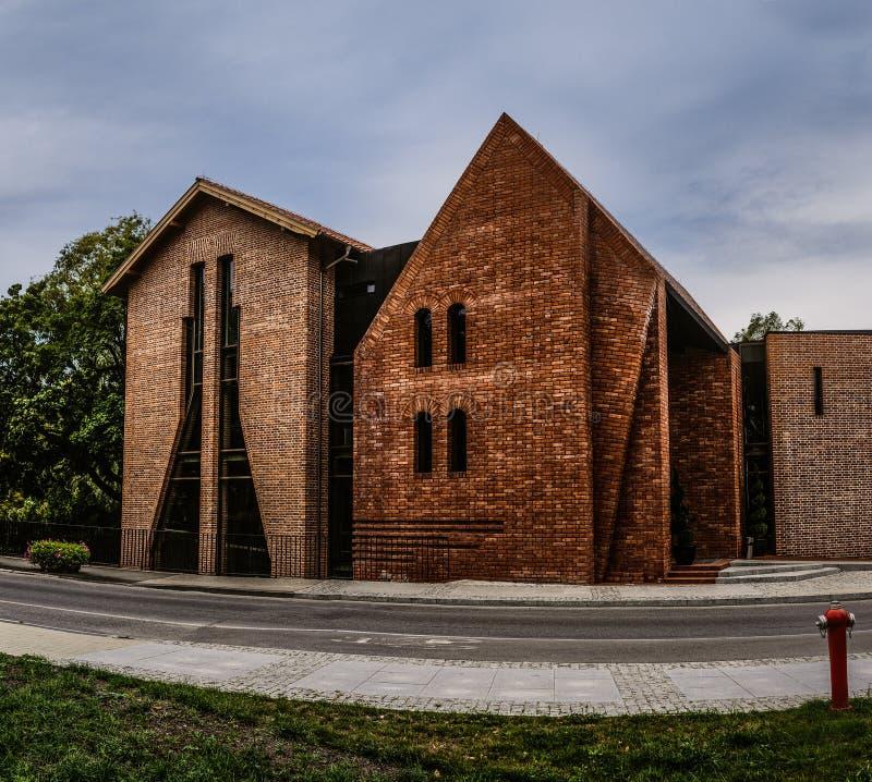 Мельница замка винзавода - bailey, замок в Olsztyn, Польше стоковое изображение rf