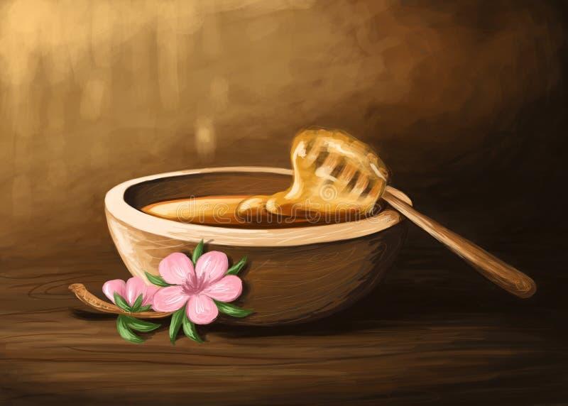 Мед Manuka иллюстрация штока