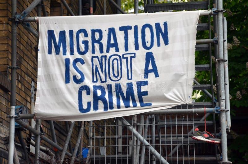 Миграция нет злодеяния стоковое изображение rf