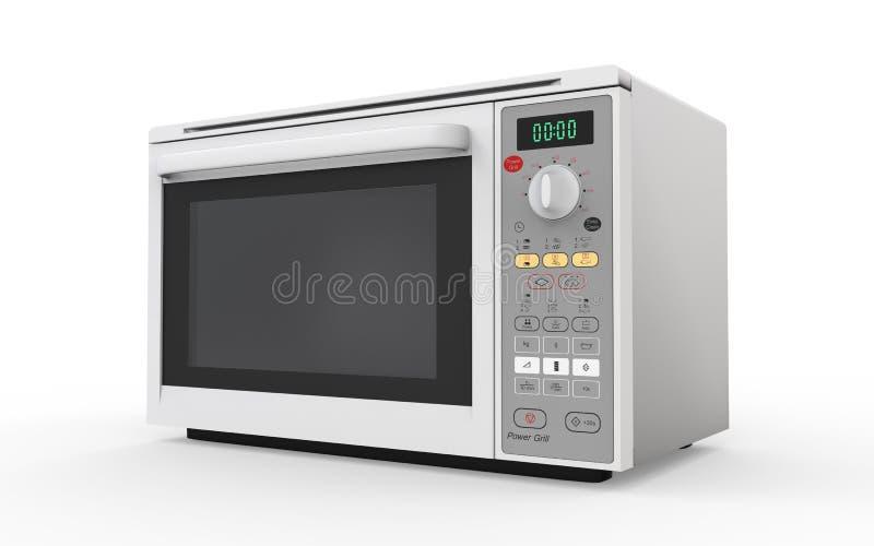 Микроволновая печь на белой предпосылке бесплатная иллюстрация
