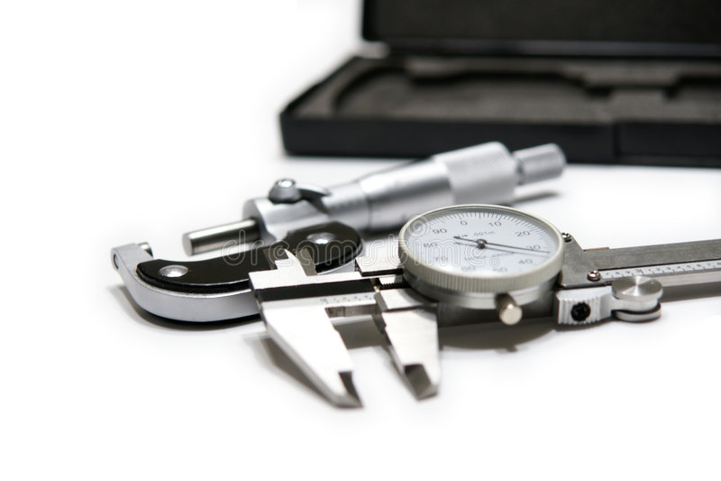 микрометр крумциркуля стоковое фото