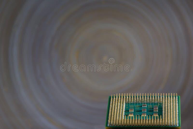 Микропроцессор - деталь крупного плана стоковая фотография