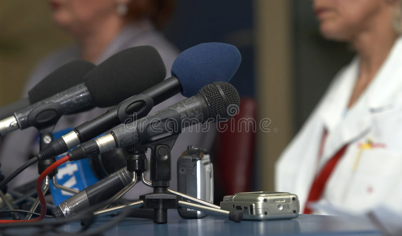 микрофоны конференции дела стоковые изображения