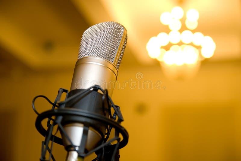Микрофон в конференц-зале. стоковые изображения rf