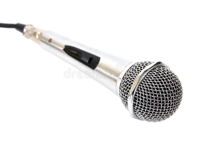 Микрофон изолированный на белой предпосылке стоковые изображения rf
