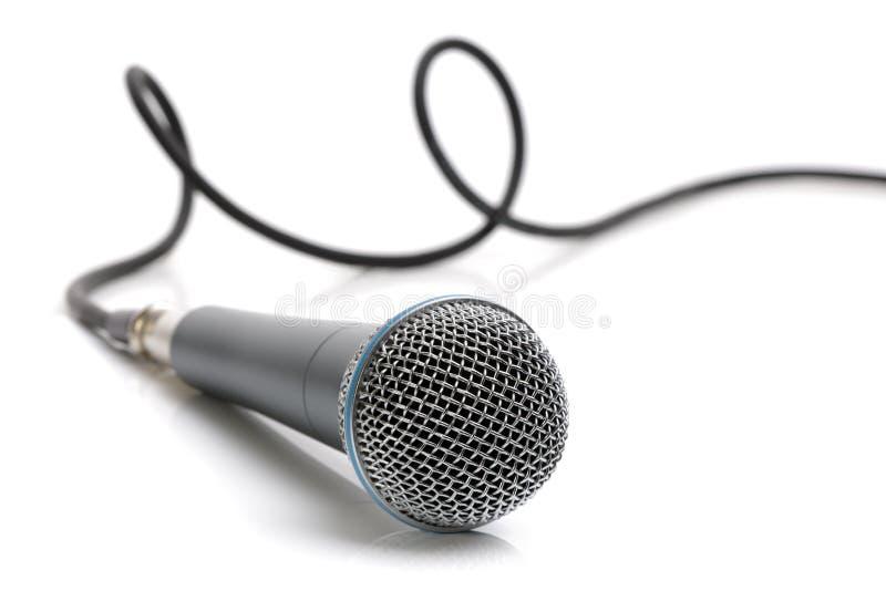 микрофон кабеля стоковое изображение rf