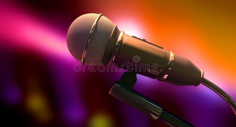 Download Микрофон на предпосылке цвета Иллюстрация штока - иллюстрации насчитывающей пурпурово, серо: 33738864