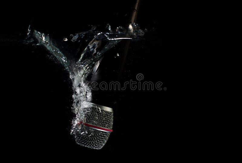 Микрофон подводный - тонуть mic стоковые изображения rf