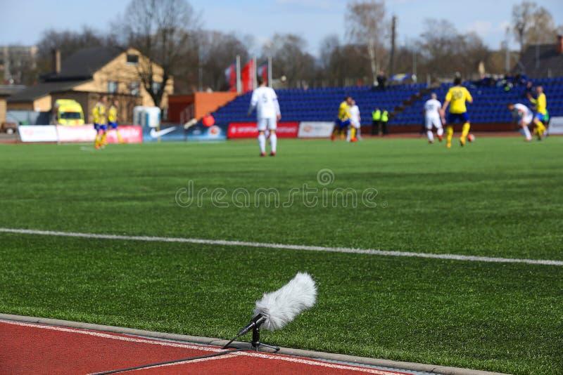 Микрофон профессионального спорта стоковые фото