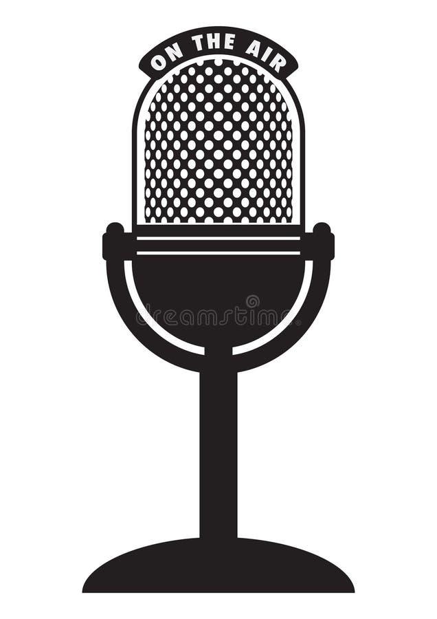 микрофон ретро иллюстрация вектора