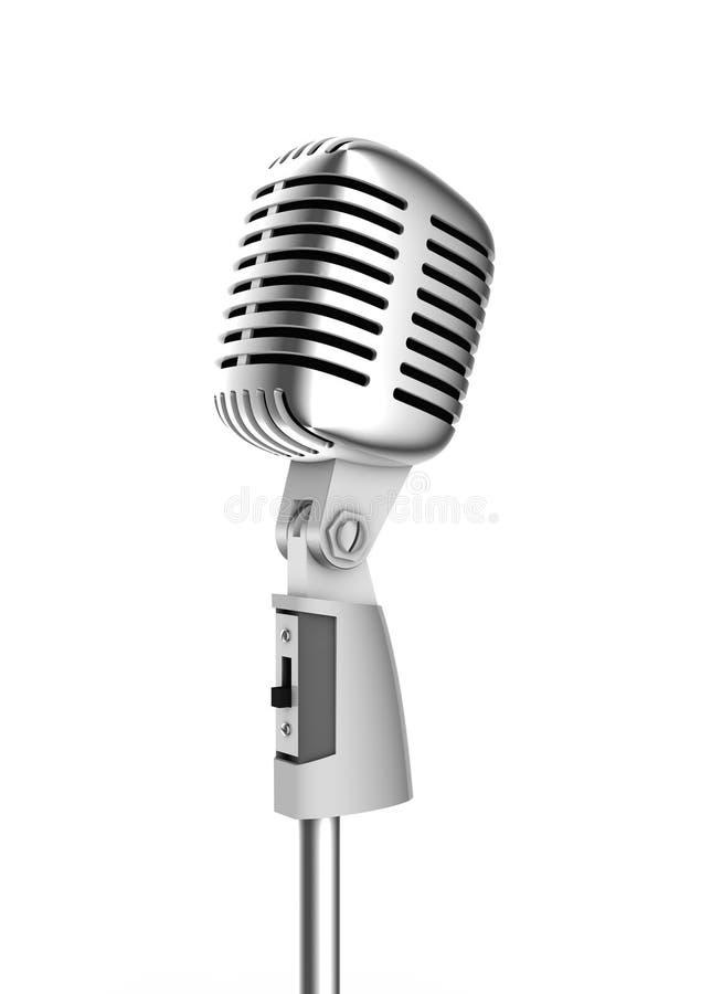 микрофон ретро иллюстрация штока
