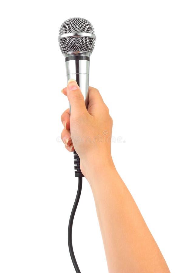 микрофон руки стоковые фотографии rf
