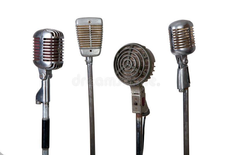 микрофон собрания старый стоковая фотография