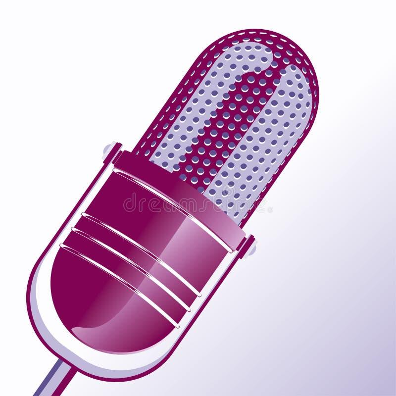 микрофон старый иллюстрация вектора