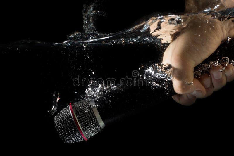 Микрофон тонуть - подводный mic стоковая фотография rf