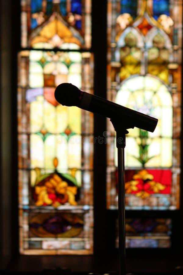 микрофон церков стоковые изображения