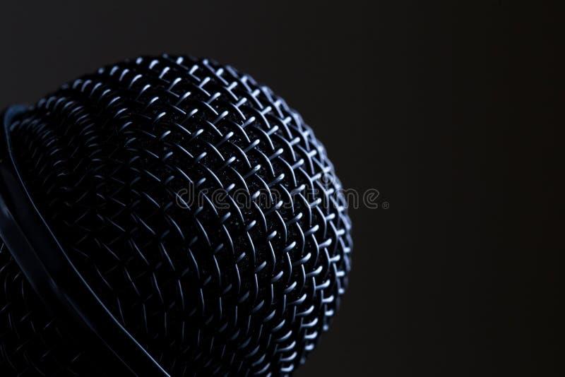 Микрофон черноты конца-вверх стоковые фото
