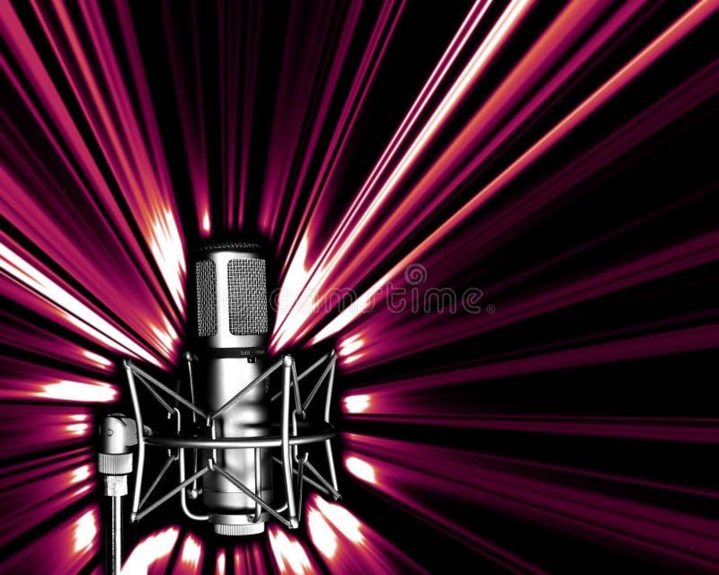 микрофон explos светлый иллюстрация штока