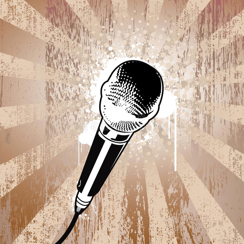 микрофон grunge иллюстрация штока