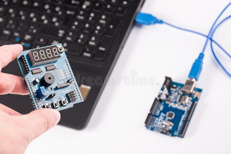 Микроэлектроника компьютерного программирования стоковые фотографии rf