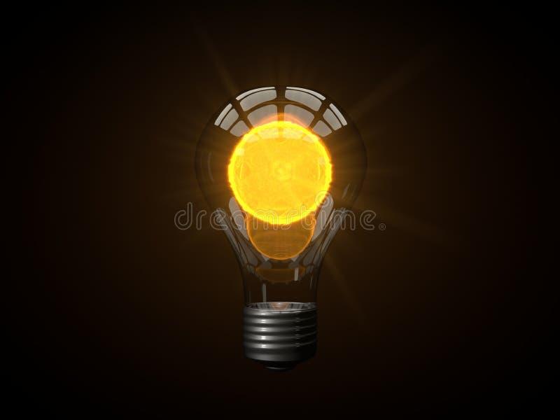 Микро- лампа солнца иллюстрация штока