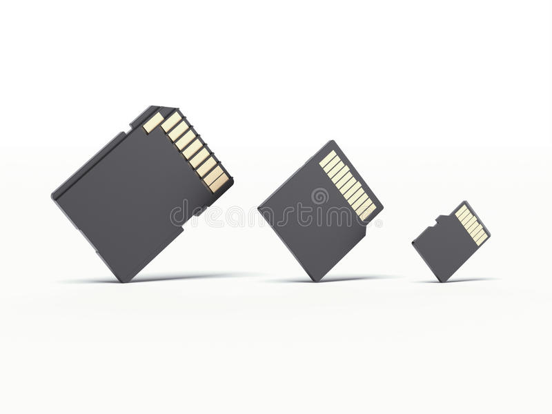 Микро- карточка и переходник SD иллюстрация вектора