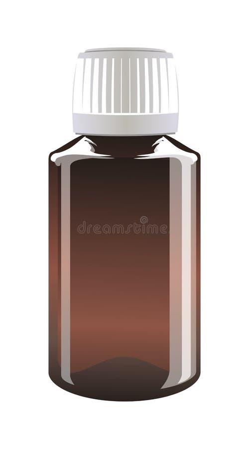 микстура бутылки иллюстрация вектора