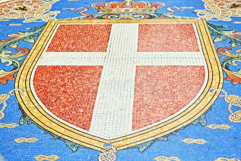 Милан Италия мозаик Vittorio Emanuele II Galleria красивый стоковое изображение rf