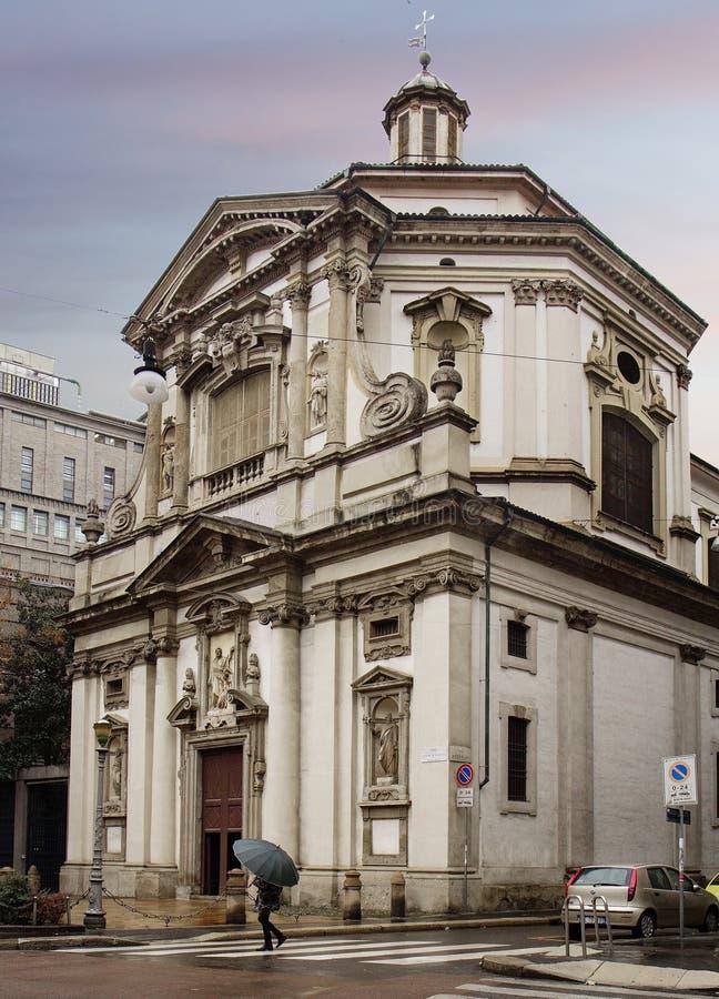 Милан, Италия, церковь Сан Giuseppe стоковая фотография