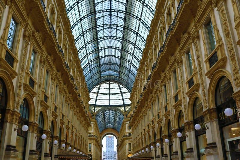 Милан Италия Vittorio Emanuele II Galleria стоковые фото