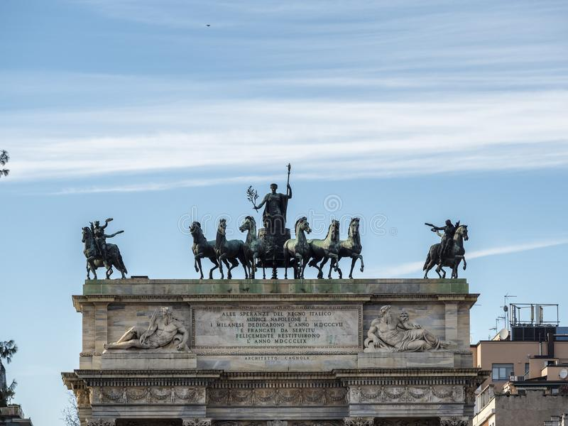 Милан: Побежка della Arco стоковое фото rf