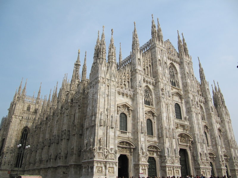 милан собора стоковые фото