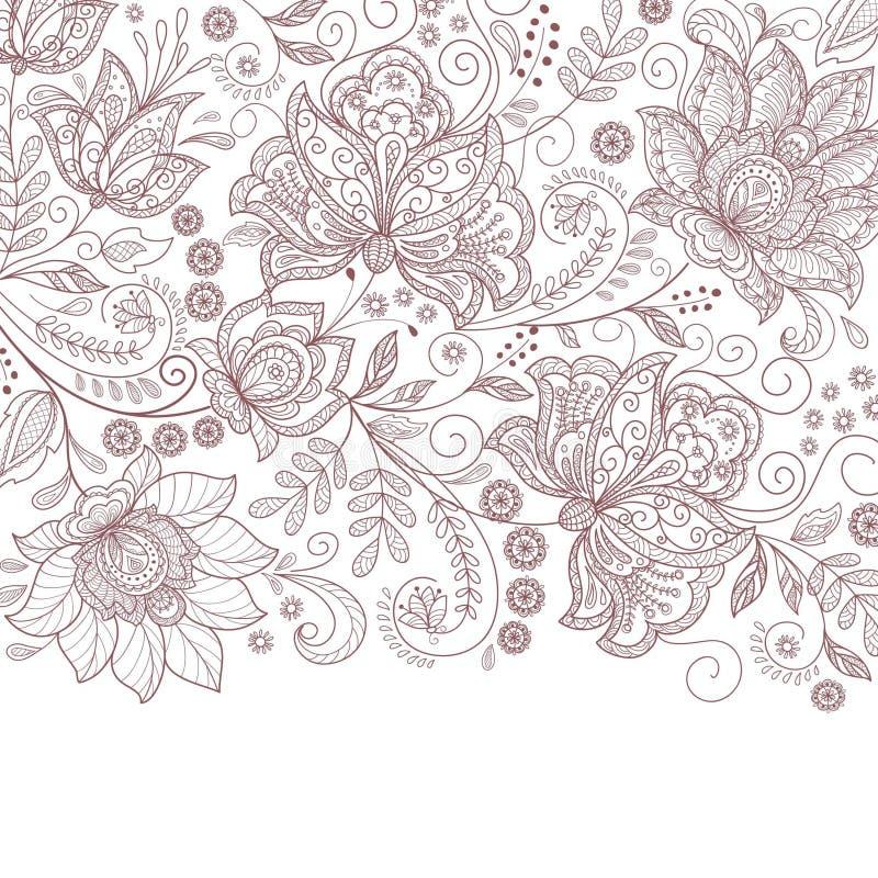 Милая абстрактная флористическая карточка иллюстрация штока