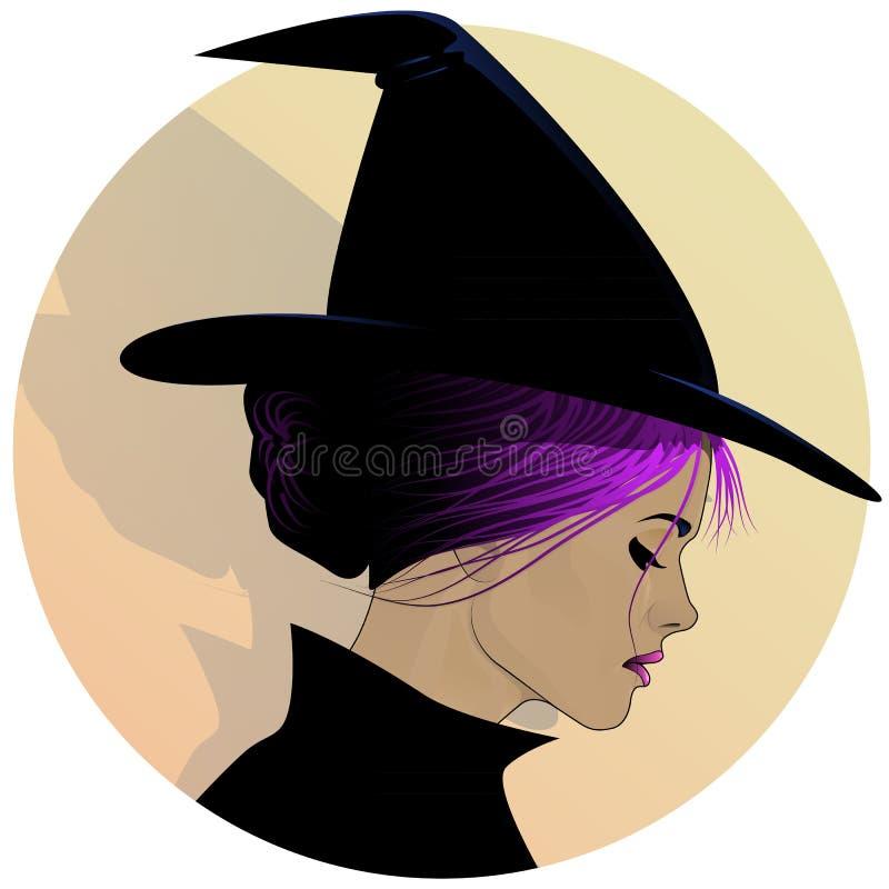 милая ведьма профиля бесплатная иллюстрация