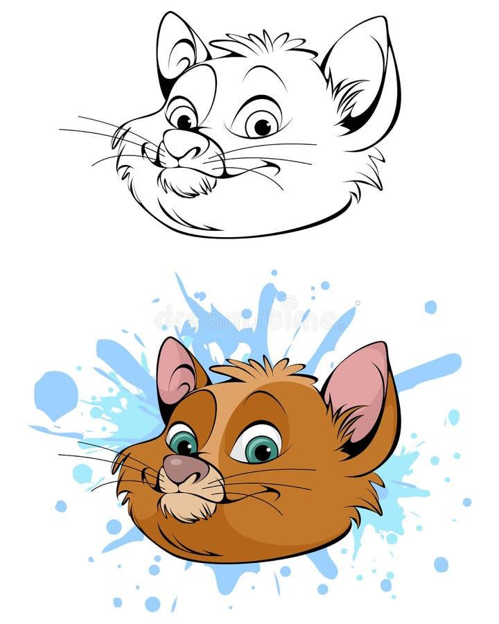 Милая голова кота иллюстрация штока